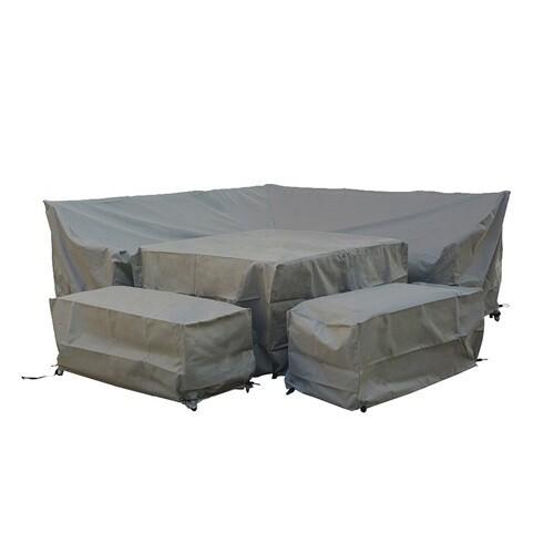 Tetbury Square Corner Sofa Set Cover  - Khaki