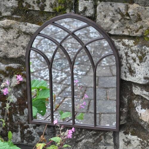 Chapel Metal Outdoor Mirror