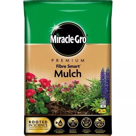 Miracle-Gro® Peat Free Premium Fibre Smart™ Mulch 40L