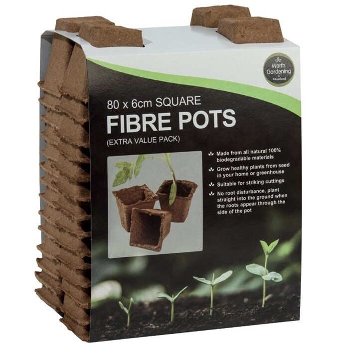 6cm Square Fibre Pots (80)