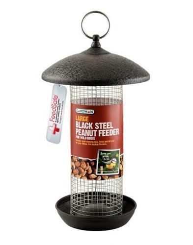 Large Black Steel Peanut Feeder A01481