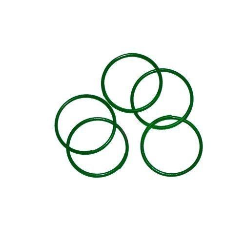 Tildenet Pack of 100 Plastic Coated Plant Rings