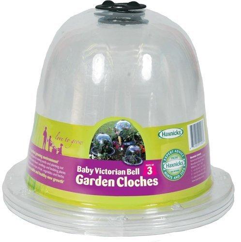Haxnicks Pack of 3 Haxnicks Victorian Baby Bell Garden Cloches