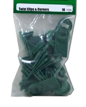 Pack of 16 Twist Clips & Corners