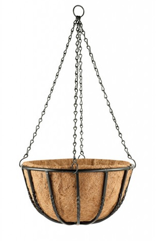 "35cm (14"") Blacksmith Hanging Basket"