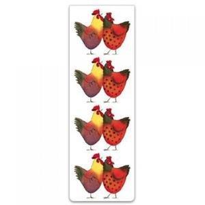 Bookmark - Colourful Cockerels
