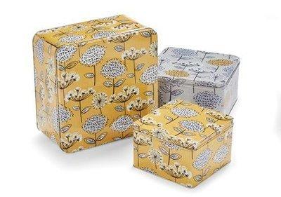 Cooksmart Retro Meadow  Set of 3 Square Cake Tins