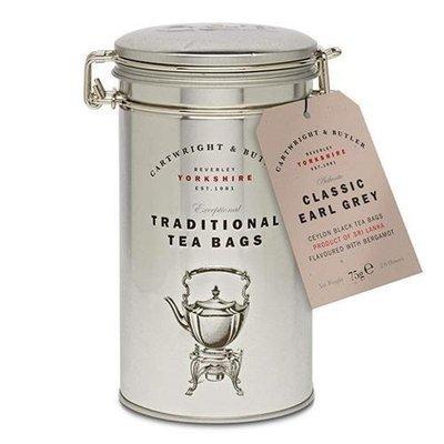 C and B Earl Grey Tea Bags in Caddy