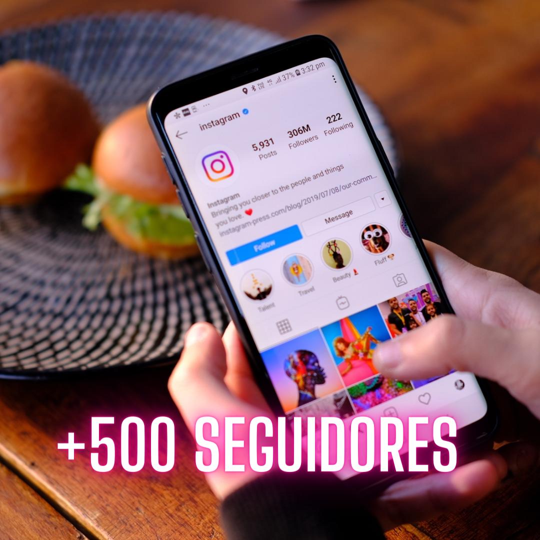 Impulso Instagram +500 Seguidores