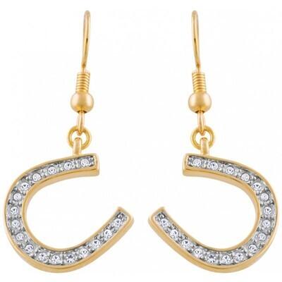Lucky Horseshoe Crystal Earrings