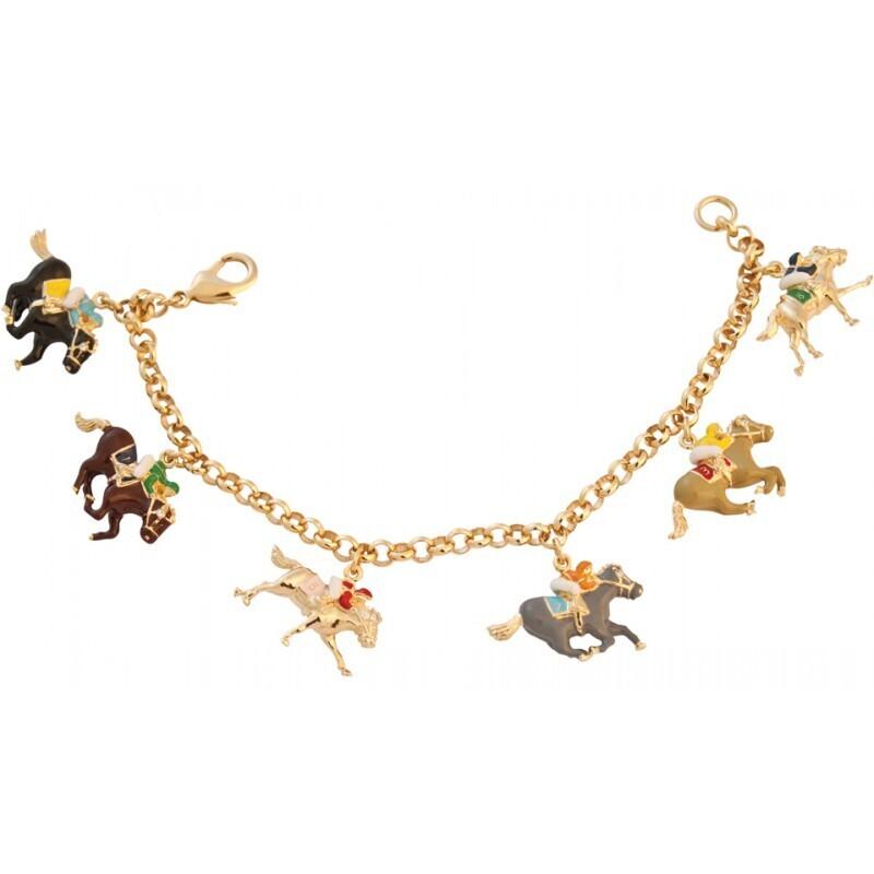 Gold Plated Rider Charm Bracelet