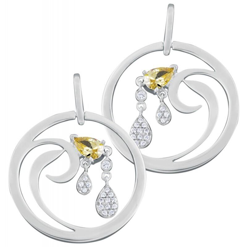 CZ Set Drop Earrings