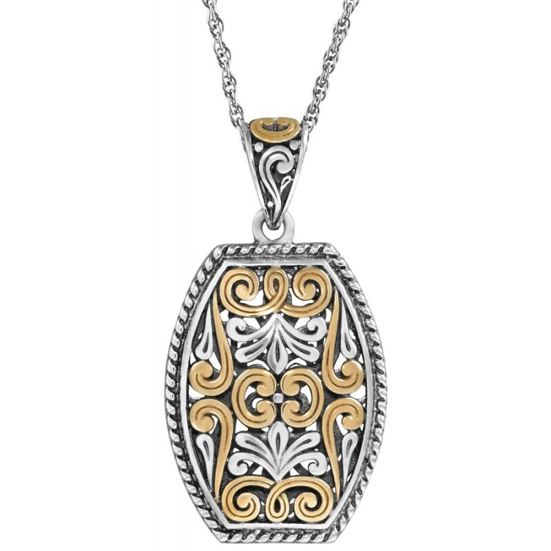 Silver-Gold Plated Filigree Pendant