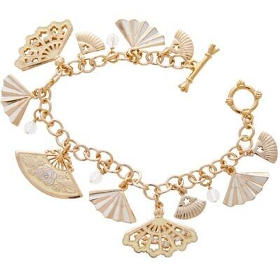 Japanese Fan Charm Bracelet