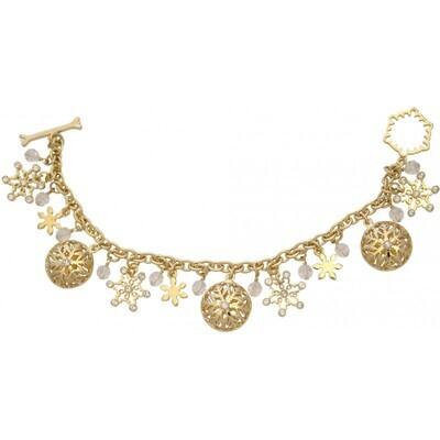 Golden Snowflake Charm Bracelet