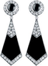 Stylish Black and silver earrings