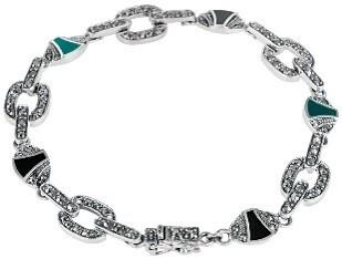 Interlocking sterling silver bracelet