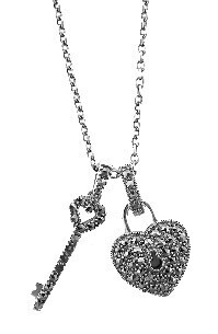 Key to the heart Sterling silver pendant