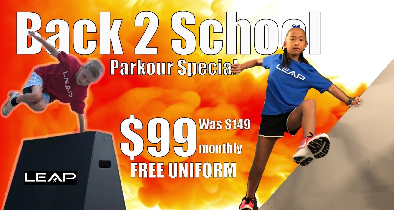 Kids Parkour Back to School Special