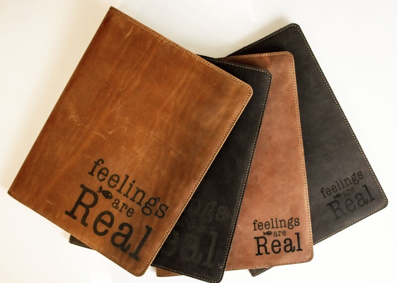 feelings are Real / Leather notebook