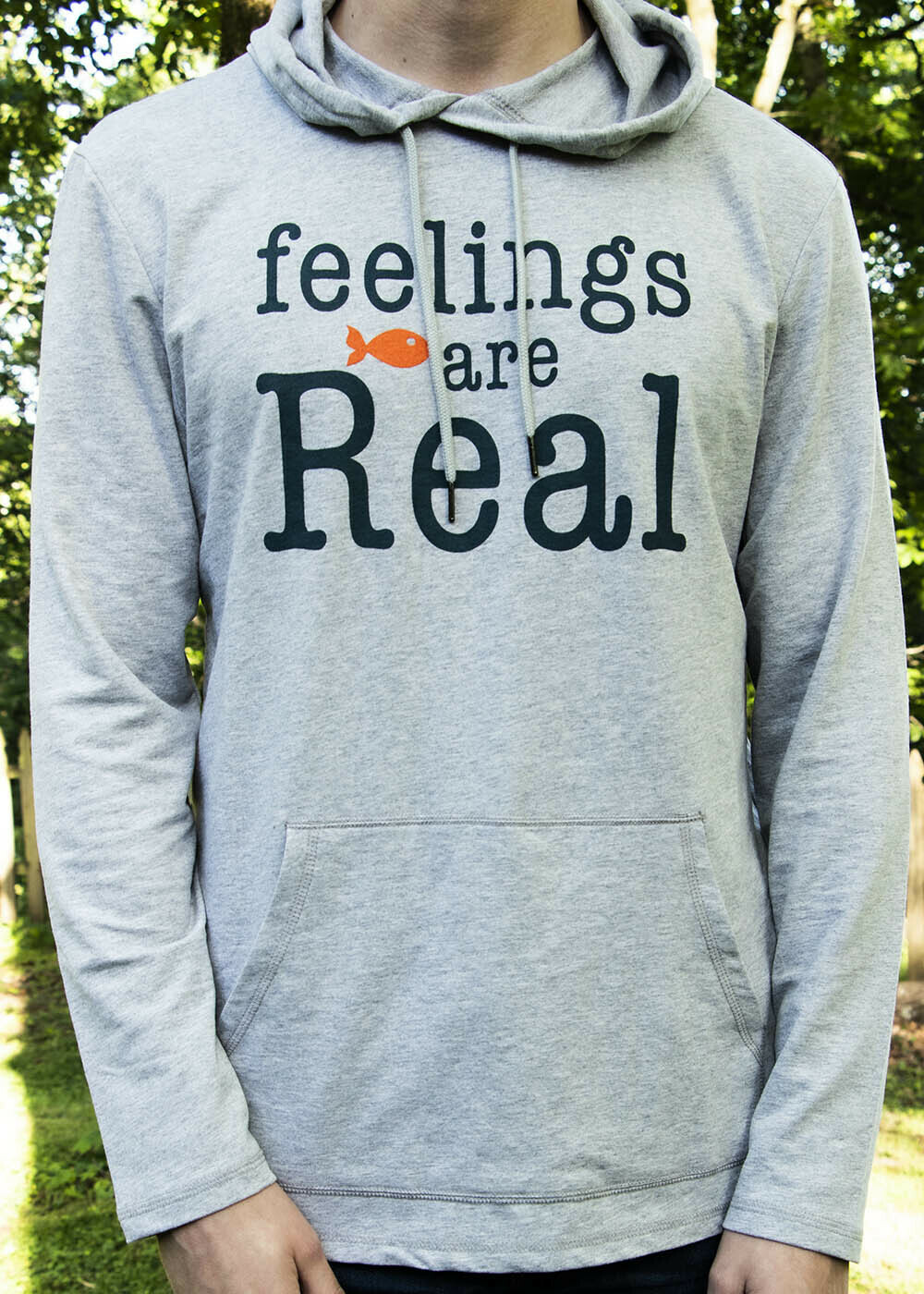feelings are Real / lightweight hoodie