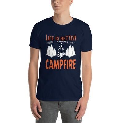 Unisex T-Shirt - Life is Better - Campfire