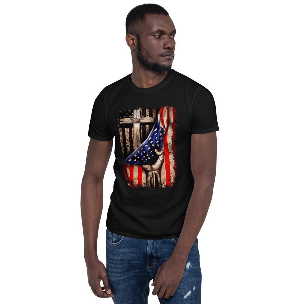 Unisex T-Shirt - Flag Cross