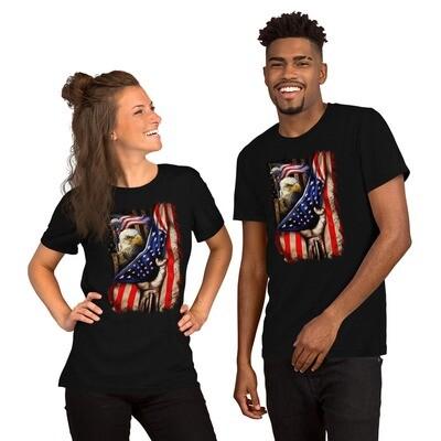 Unisex Premium T-Shirt - Flag Eagle