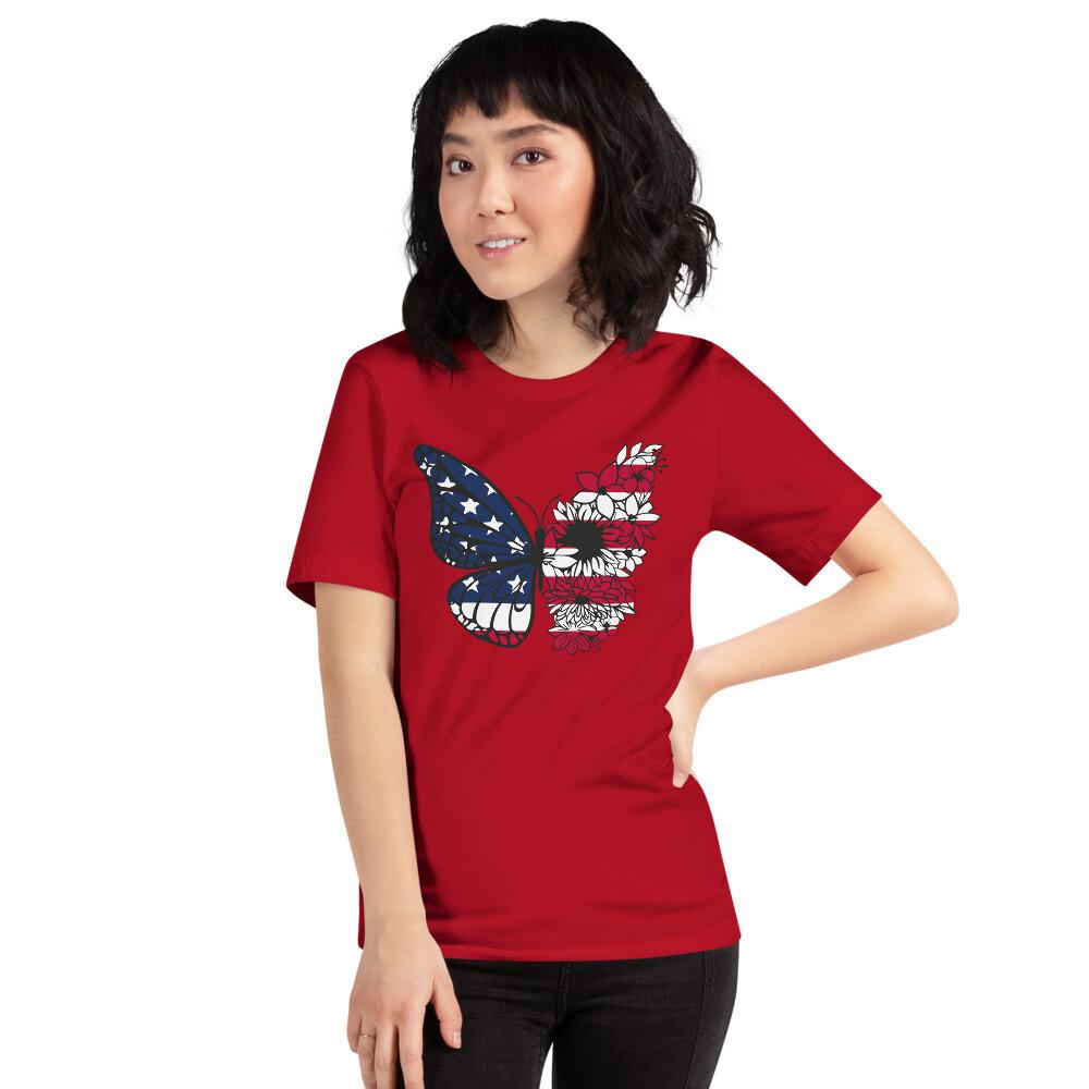 Unisex  Premium T-Shirt - Patriotic Butterfly