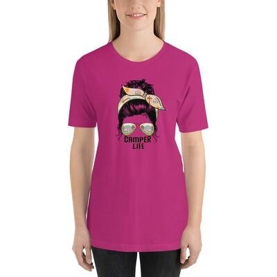 Unisex Premium T-Shirt Messy Bun Camper Life