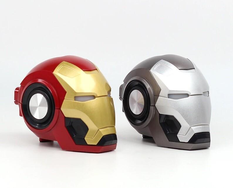 Iron Man Wireless Portable Speaker - TF Card - FM Radio (RED)