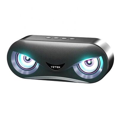 Wireless Stereo Bluetooth Speaker With LED Light - 10W (Black)