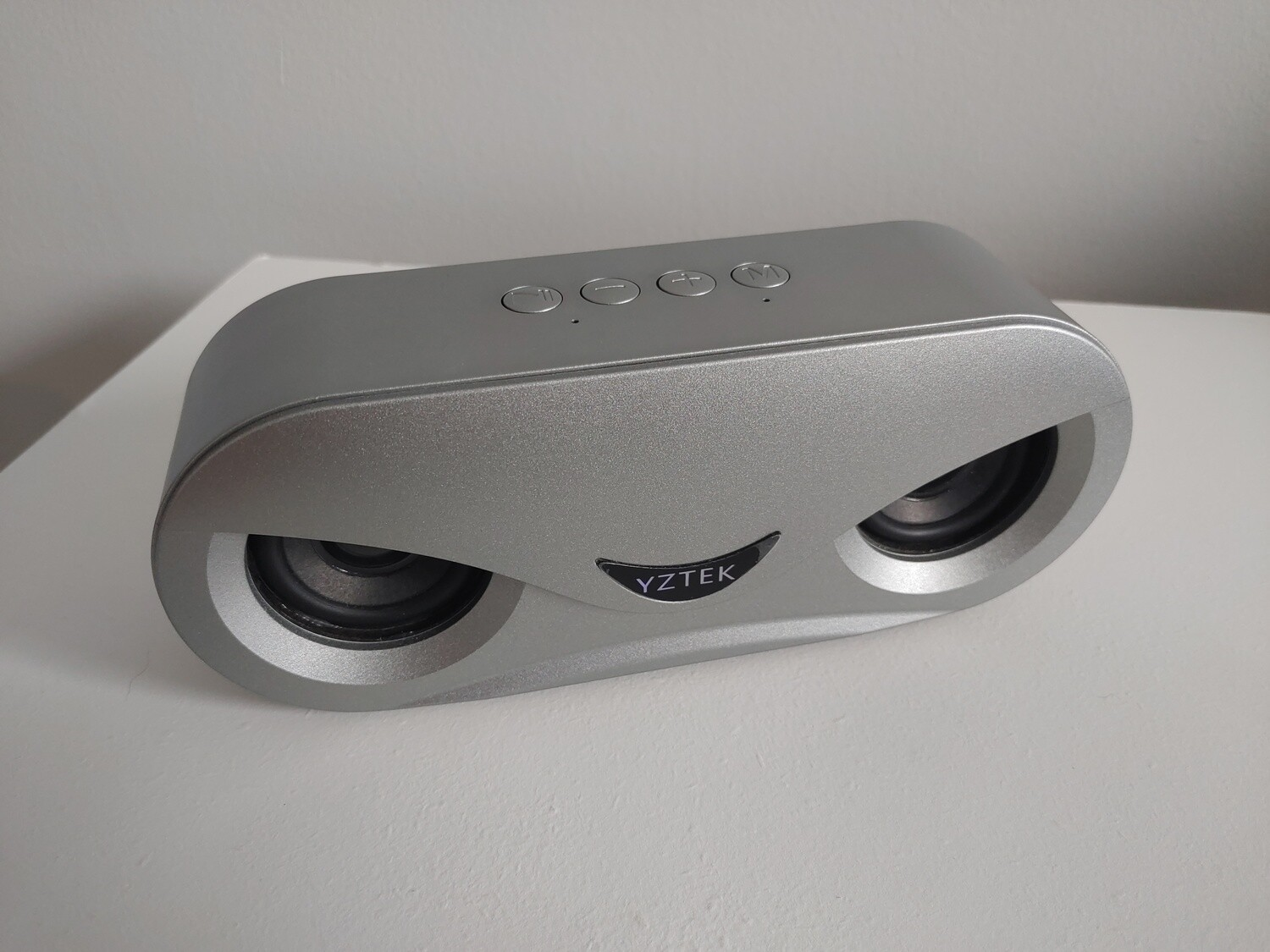 Wireless Stereo Bluetooth Speaker With LED Light - 10W (Silver)