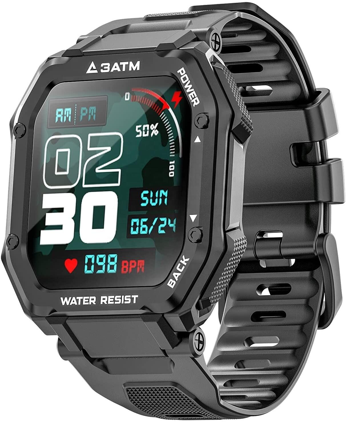 C16 Smart Watch - Heart Rate Tracker - Waterproof