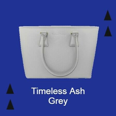 MM Ash Grey Italian Leather Tote Bag
