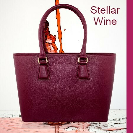 MM Wine Italian Leather Tote Bag
