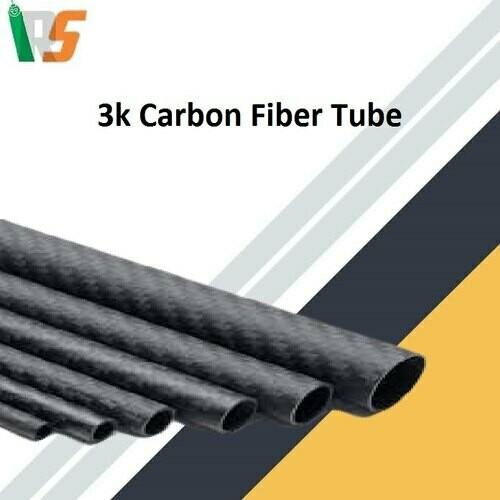 3K Roll-wrapped Carbon Fiber Tube (Hollow)10mm(OD)8mm(ID)*1000mm(L)