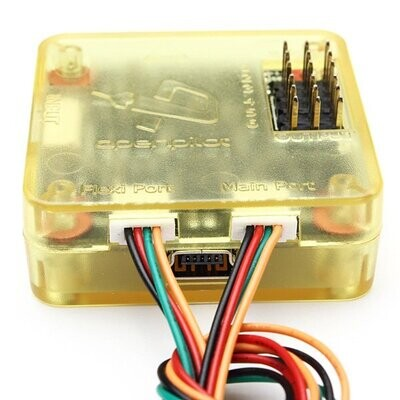 Side pin / straight pin CC3D EVO Openpilot Open Source 32 Bits Flight Controller w/ yellow Protective Case for Quadcopter