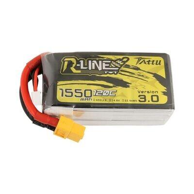 Tattu R-Line Version 3.0 1550mAh 4s 120C Lipo Battery