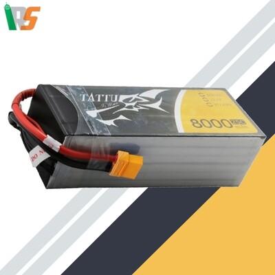 TATTU 8000mAh 6s 25c Lipo Battery pack with XT60 connector