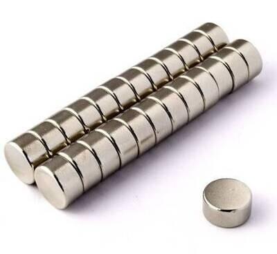 10mm x 5mm Neodymium Magnets pack of 10pc