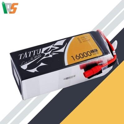 TATTU 16000MAH 6S1P 15C XT60 LIPO BATTERY