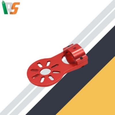 DIY Aluminum Alloy Motor Mount for 16mm Red Black carbon fiber tube