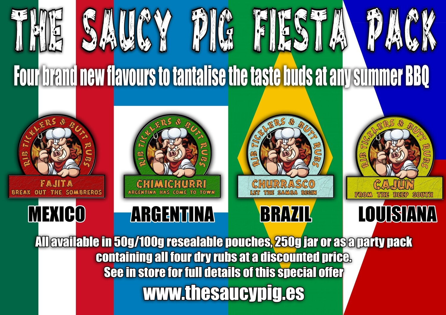 The Saucy Pig Fiesta Party Pack
