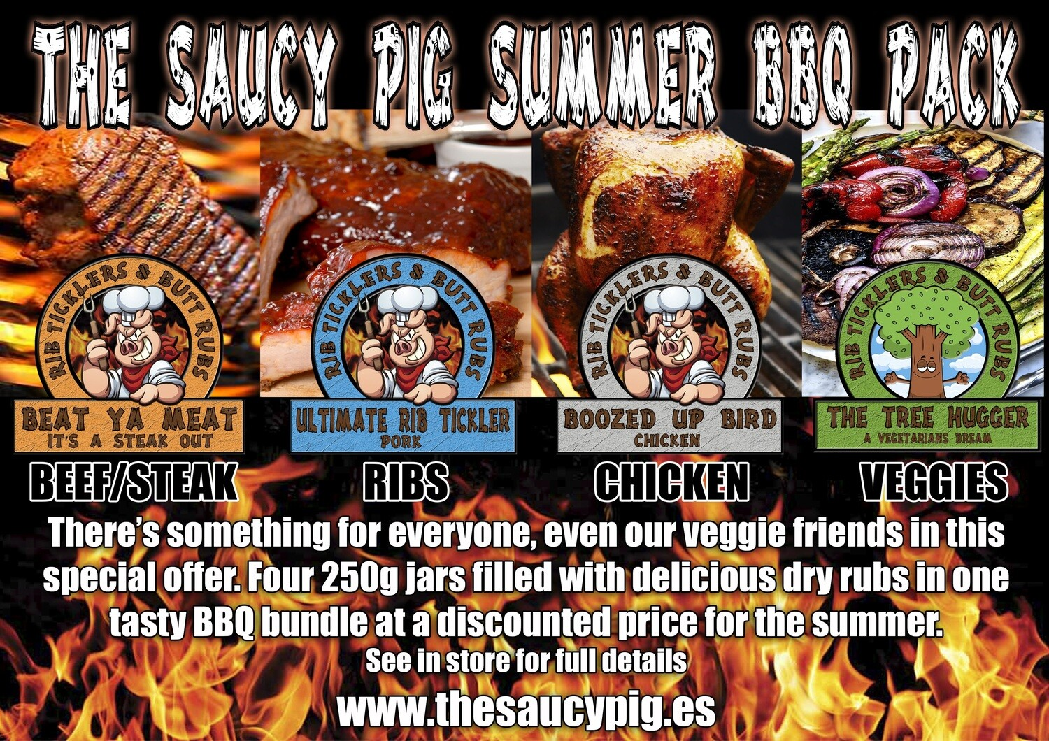 The Saucy Pig Summer BBQ Pack