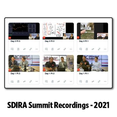2021 SDIRA Summit Video Series