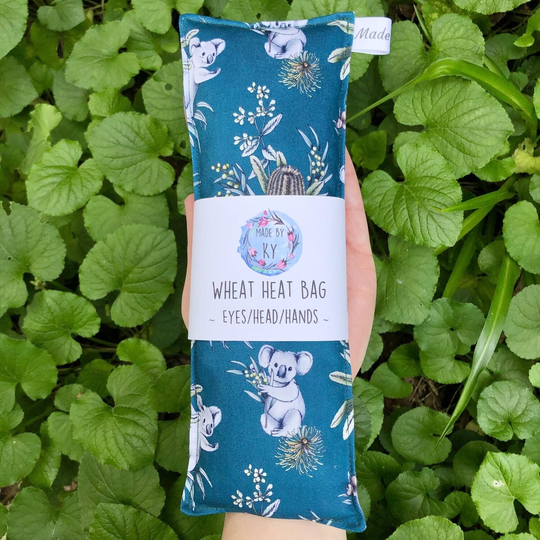 Teal Koalas - Wheat Heat Bag - Mini Size