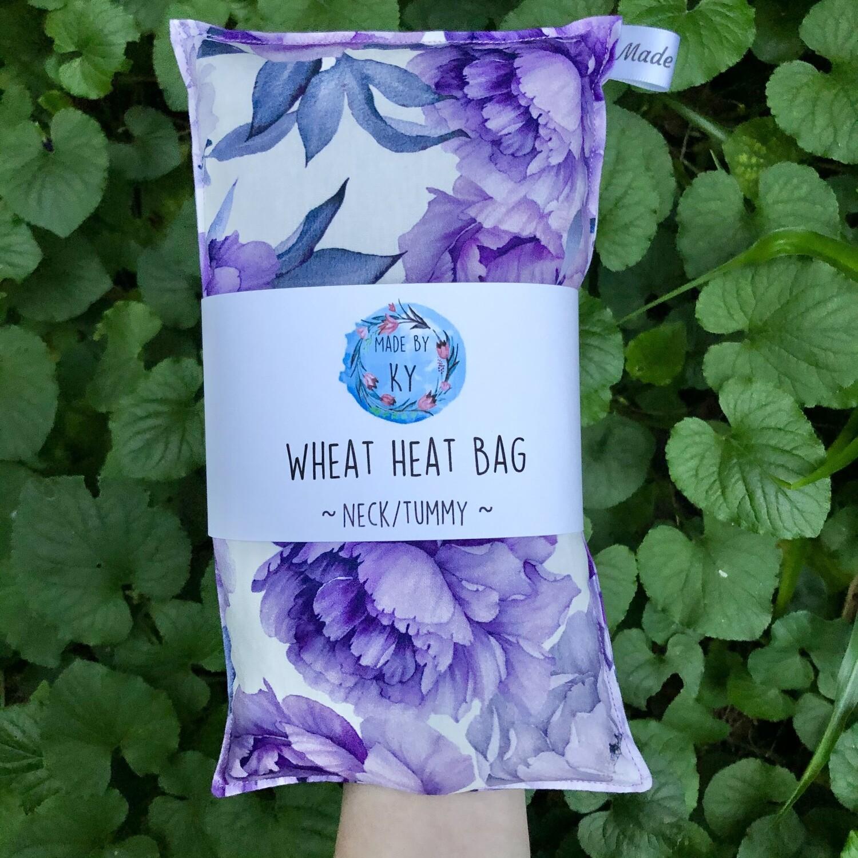 Purple Peonys - Wheat Heat Bag - Regular Size