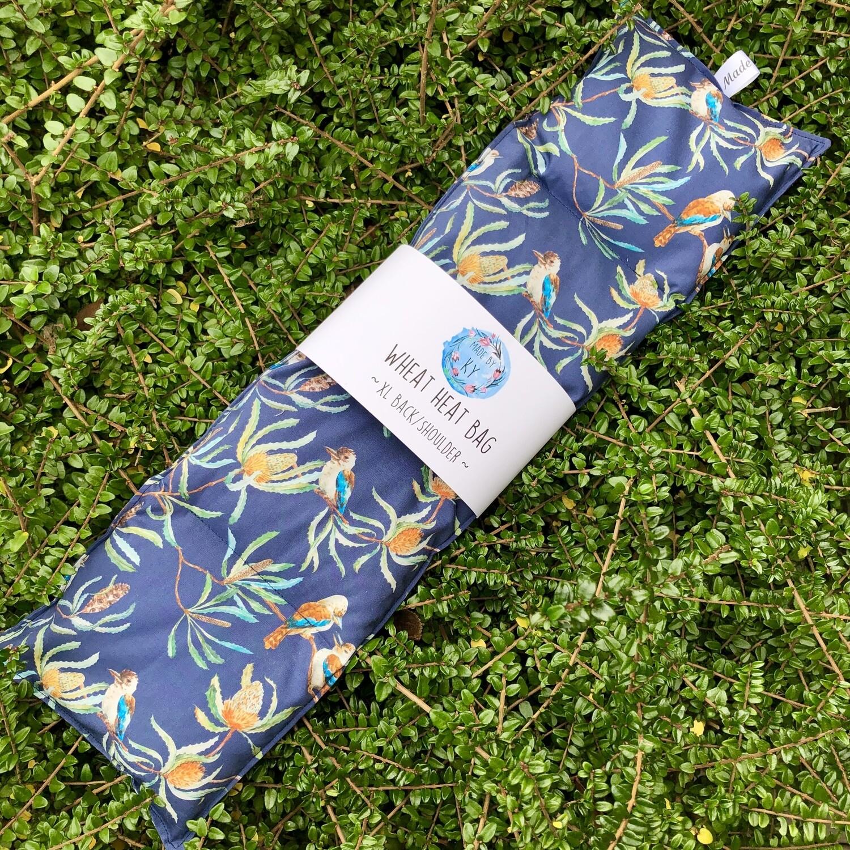 Navy Kookas - Wheat Heat Bag - XL Size