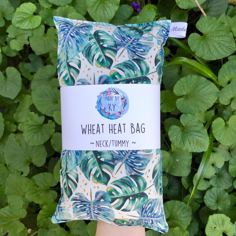 Monstera - Wheat Heat Bag - Regular Size